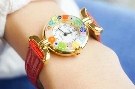 女子会プレゼント・CC Zecchin ヴェネチアングラス時計
