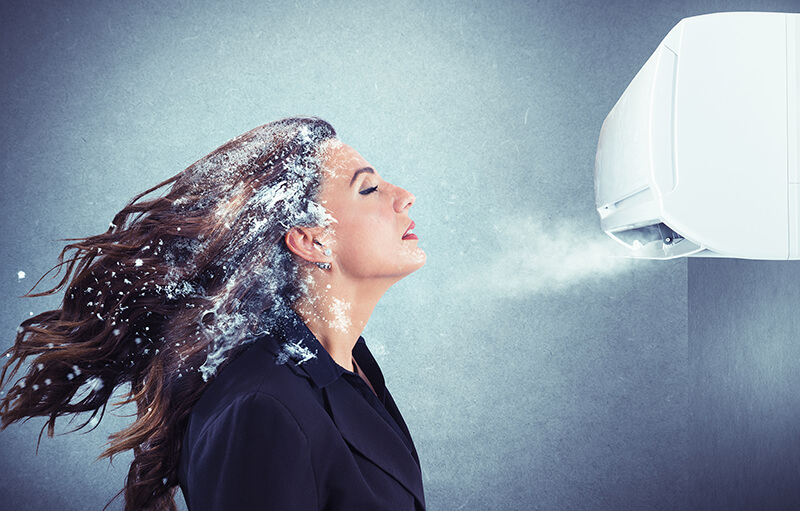 エアコンによる喉の不調や痛みを対策 イメージ画像