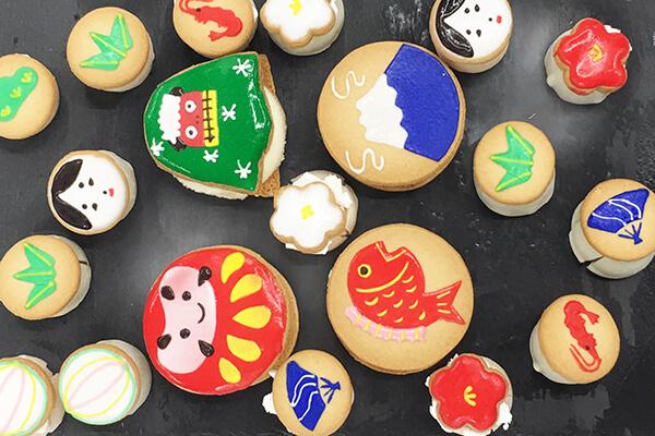 『アンファン』のアイシングクッキーアイス「日本の初春」
