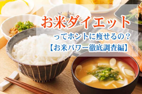 お米ダイエット調査