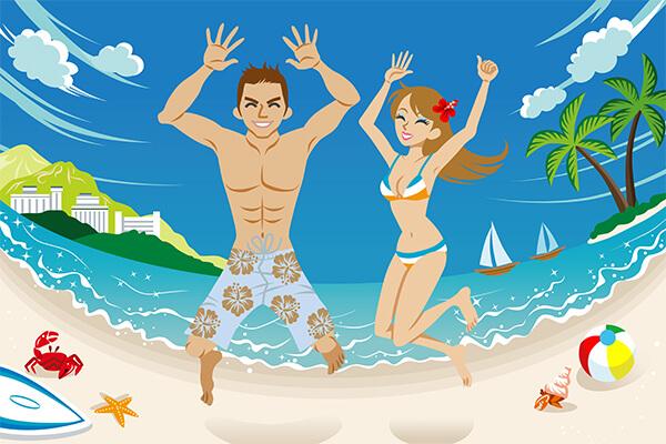 新婚旅行ハワイイメージ1